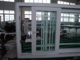 Finestra di scivolamento personalizzata del PVC della grande scala con il disegno fisso della griglia e del telaio