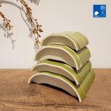 Dîner de la vaisselle Ware Surface mate sécurité durables en plastique vert bambou 4,5 pouces plat mélamine plaque (4221-045)