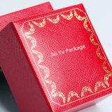 Коробка квадратных Handmade красных пластичных ювелирных изделий подарка упаковывая для кольца