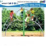 Bambini esterni di progetto del gioco di sviluppo che salgono la scala di addestramento (HC-13508)
