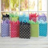 기하학적인 패턴 선물 부대, 선물 종이 봉지, 아트지 부대, 물색 종이 봉지