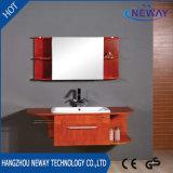 Module de salle de bains en bois de renivellement neuf de modèle avec le miroir