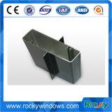 Profil d'aluminium anodisé noir rocheux pour portes coulissantes et porte