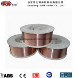 銅の上塗を施してある溶接ワイヤEr70s-6