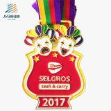 2017 personnaliser les médailles en alliage de zinc Medallas en métal de sports de bâti avec l'émail mol