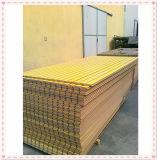 Slatwall barato del precio bajo de la alta calidad / Slatwall laminado / MDF ranurado coloreado