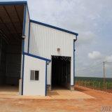 Estructura de acero prefabricados Angola Warehouse Cobertizo con amplio espacio