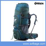 Mochila impermeável ao ar livre profissional para camping, caminhadas, montanhismo