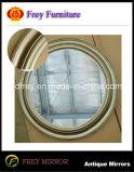 Aufwändiger hölzerner Wand-Spiegel-Rahmen-fertiges glänzendes Goldenes