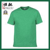 T-shirt bon marché de coton de plaine de promotion avec différentes couleurs