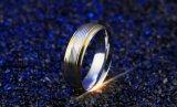La máxima calidad de intervalo de 6 mm de ancho de acero inoxidable de oro para los hombres el anillo de compromiso de Boda Elegantes hombres Anel