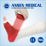 Endurecimento rápido bandagem de fixação da fratura médica para pernas