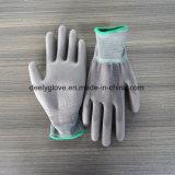 高品質のセリウムの証明灰色PUによって塗られる作業手袋