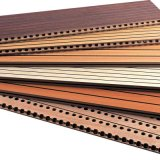 painel de parede acústico de madeira Grooved interior da fibra de planta de 15mm Eco