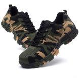 軍隊の緑のカムフラージュデザイン安全靴