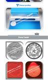 Portátil de escritorio Mini grabadora láser de CO2 para la fabricación de sellos de ruber