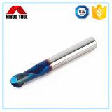 Coupeur de fraisage enduit nano bleu de nez de bille de qualité fine de Changzhou Hiboo