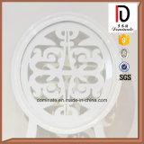 حديثة ألومنيوم صورة زيتيّة معدن إطار مأدبة بيضاء حزب كرسي تثبيت