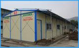 Casa prefabricada de paneles sándwich para el trabajador Dormitorary / Estructura de acero de materiales de construcción de la casa Contenedor para talleres