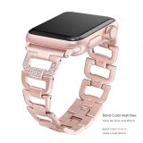 Fashion Diamond Rose Gold Bangle Assista a alça para Apple