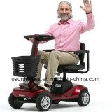 4つの車輪の年配者のための情報処理機能をもったシステムが付いている電気移動性のスクーター
