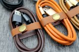 1m pure Leather 2A almost Charging DATA Micro USB Cable