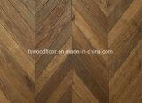 Weiße Eiche Chevron, der französischen Muster-festes Holzparquetry-Bodenbelag ausbreitet