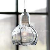 Mini indicatore luminoso Pendant d'attaccatura semplice moderno della lampadina di vetro di illuminazione per la decorazione della cucina