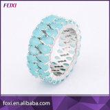 중국 도매 형식 보석 금관 악기 지르코니아는 반 반지를 보석으로 장식한다
