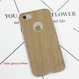Caixa de couro de madeira macia do telefone para o iPhone 8 Samsung S8
