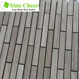 Wood-Grainader-Marmor-Mosaik-Streifen-Marmor-Fliese für Wand