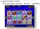 5 Koi-243 a linha potência do carretel - jogo  Máquina de jogo &#160 do entalhe; Máquina de jogo a fichas da máquina de jogo