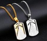 316Lステンレス鋼の金の銀の立場聖母マリアのネックレスの人の空の軍の兵士の金属のペンダントのネックレス