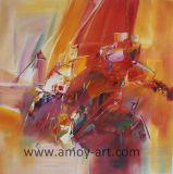 Bunte abstrakte Ölgemälde-Segeltuch-Wand-Kunst für Hauptdekoration