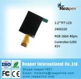 LCD TFT 2.2inch pantalla 240*320 puntos con todas dirección Ángulo de visión y Alto Brillo LCD TFT
