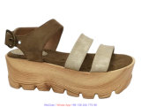 Sapatas lisas das sandálias do verão das senhoras novas da forma do projeto para mulheres