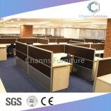 Moderne vier Sitzbüro-Zelle mit Datei-Schrank und L Form-Tisch (CAS-W31406)