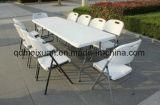 プラスチック折りたたみ式テーブル6フィートおよび183 Cmの半分長い高力PEの環境保護のパネル(M-X3220)で折られる屋外のピクニック用のテーブル
