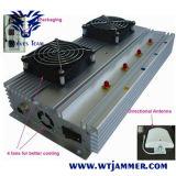 En el interior de alta potencia 45W CDMA GSM 3G 4G celular Jammer (100m el blindaje de la gama)