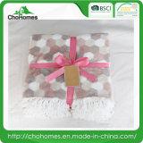Фланелевая одеяло с Tassel изящество дизайна 300 GSM