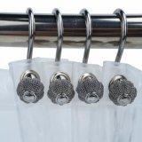 Легко скользить Rustproof душ крюки с полимера металлическую отделку шаровой шарнир