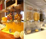 Distribuidor seco do cereal do recipiente do metal da cozinha da caixa de armazenamento do alimento