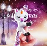 Interactive Wholesale Colorful Baby Animal Squirrel Finger Unicorn with Stand
