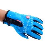 De waterdichte Winter Gloves de Thermische Warme Handschoenen van de Ritssluiting van de anti-Schok van het Water van de Vrouwen van de Man van de Handschoenen van de Vacht Antislip Bestand