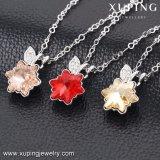 43132 de nieuwe Kristallen van de Juwelen van de Kleur van het Witgoud van het Ontwerp Saoedi-arabische van de Halsband van het Huwelijk Swarovski