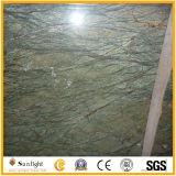 Естественный троповый сляб камня мрамора зеленого цвета дождевого леса, мраморный плитки стены