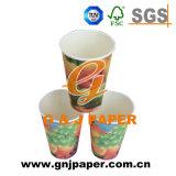 Tazza di carta di stampa del tè a gettare a parete semplice su ordinazione dalle 12 once