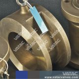 Plaquette en acier inoxydable de type clapet à disque unique