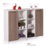 Muebles de oficinas de la cabina del estante para libros de cristal de madera de la puerta