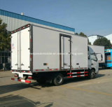 Dongfeng 6 rodas Refrigerated o caminhão do camião 6 toneladas de caminhão do refrigerador